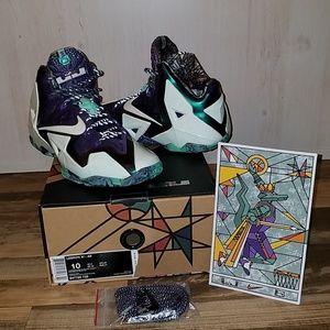 sports shoes 80f72 f1350 Nike Shoes - Lebron 11 XI All Star Gumbo League Gator King